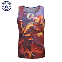 Wholesale Wrestling Shirts - Fashion 3d print King Glory sports wear wrestling singlets basketball singlets tank tops wholesale running gym singlet no sleeve t-shirt