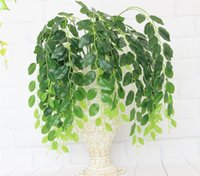 5pcs colgantes artificiales Jujube árbol Leaf Vine hortalizas para la planta de la pared de fondo de la boda Home Office Bar decorativos