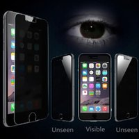 Wholesale Iphone 4s Real - 9H Hardness Premium Privacy Shield Anti-Spy Real Tempered Glass Screen Protector Film Protective Guard for iPhone 7 Plus 6 6S 5 5S 4s