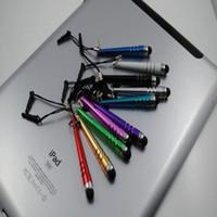 Wholesale Dust Cap Pen - 10000pcs lot Baseball bar style New Short Capacitive Stylus Pen Dust cap for IPad and IPhone 4S 4G 3G 3S