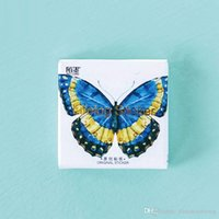 Wholesale pvc free decal paper resale online - 45 box Colorful butterfly photo album Scrapbook paper decoration sticker DIY Handmade stickers Arts Craft gift