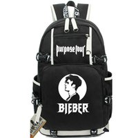 Wholesale Canvas School Bag Pack - Believe faith backpack Justin Bieber daypack JBiebs oxford schoolbag Star rucksack Sport school bag Outdoor day pack