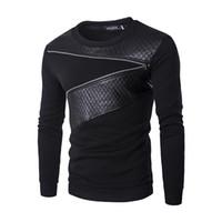 Wholesale Mens Fur Jackets Xxl - Mens Shirt,Haoricu Men Warm Splicing PU Leather Sweatshirt Zipper Coat Winter Jacket (XXL, Black,Gray)