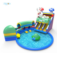 outdoor water slides for kids - Hot Selling Summer Outdoor Giant Water Game Toboganes Amusement Park Inflatable Water Park With Pool for Kids