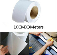 Wholesale Car Door Protection Film - 10cm x 3M Rhino Skin Sticker Car Bumper Hood Paint Protection Film PVC Vinyl Clear Transparence Film Thickness 0.2mm Wholesale