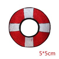 Wholesale Red Buoy - New arrival Red and White Life Buoy emobroidered iron on patch