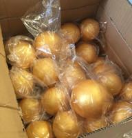 schwarzes kobra tier großhandel-Freies shiping großhandel 15 cm natürliche gold styropor runde kugeln handwerk ball schaumstoffball diy handgemachte gemalte kugel (8 teile / los)