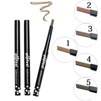 Wholesale Crayon Eyeliner Pencil - Wholesale- Maquiagem Eyes Makeup Waterproof Eyebrow Pencil Long Lasting Eyeliner Eye Brow Pen Crayon Sourcils Make Up Brown Sobrancelha