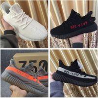 Wholesale Polka Dots Black White - Cream White Boost 350 V2 New SPLY-350 All White Triple White Zebra Black Red 350 V2 Running Shoes Kanye West Casual Shoes