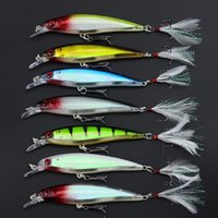 Wholesale Plastic Shad - 7PCS 11cm 13g Fishing Lures Artificial Bait Plastic Shad Minnow 3D Eyes Wobbler Bass Lure Fishing Tackle Spinnerbait