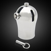 Wholesale Titanium Chastity Devices - Male Luxury Chastity Stainless steel Cage with Titanium Plug and PA Device CD116
