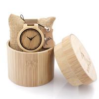 Wholesale E Got - BOBO PÁSSARO Pulseira de Couro Relógios para Homens e Mulheres De Madeira Japonês C-C28 miytor 2035 Masculino Relógio de Quartzo Relogio GOT