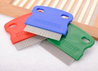 Wholesale Metal Comb Dog - 500pcs Pet Dog Cat Clean Comb Metal Lice Comb Small Pet Nit Lice Comb Free shipping