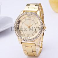 klasik tasarım kuvarslı saat toptan satış-Vintage roma rakamları izle Marka yeni kuvars kol saati kadınlar için en lüks Ünlü tasarım saatler bayanlar erkek mens Gümüş / gül / altın M05