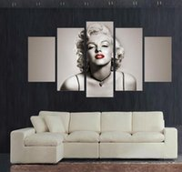 Wholesale Best Bedroom Decor - Best Modern living room bedroom home decor movie Star sexy marilyn monroe Wall Art Picture print Painting on Canvas art