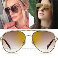 Wholesale 168 Amber - 168 Women Brand Designer 168 Sunglasses Fashion 168S Oval UV Protection Lens Coating Mirror Lens Frameless Color Plated Frame with case
