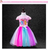 Wholesale Pony Skirt - Girls dress is the new children's wear summer 2017 girls pony bao li color gauze dress skirt priced direct selling wholesale Princess dress