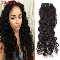 8A Vente en gros de cheveux brésiliens bruns Weave Bundles Natural Water Wave Hair Weft Non transformé Cheap Remy Human Hair Extensions 4 Bundles beaucoup