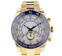 Wholesale mens automatic power reserve watch online - Top quality Luxury AAA Wristwatches Blue Ceramic Bezel Golden White Dial Automatic Mechanical Mens Men s Watch Watches
