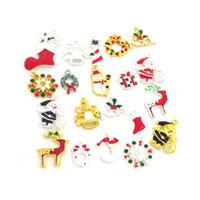 Wholesale Mixed Jingle Bells Charms Pendant - 20pcs Mix Enamel Christmas Charms Pendants Wholesale Jewelry Making Accessories DIY Deer Snowman Jingle Bells Santa Etc
