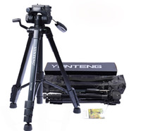 Wholesale NEW YUNTENG VCT Pro Tripod with Damping Head Fluid Pan for SLR DSLR Canon Nikon Carrying Bag