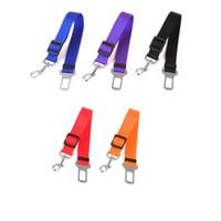 Wholesale Toys Car Pet - Djustable Pet Cat Dog Car Safety Seat Belt Harness Vehicle Seatbelt Lead Leash for Dogs 6 Colours Wholesale 0704056