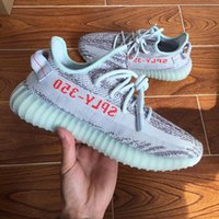 Wholesale Newest Running Shoes - Newest 350 V2 Boost Blue Tint B37571 beluga 2.0 Semi Frozen B37572 SPLY-350 men shoes women Running Shoes SZ 4-13