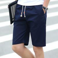 Wholesale White Pants For Men Cheap - Wholesale- Cheap Sales 2017 Summer short pants for men Casual White New Fashion cotton Slim Bermuda Masculina Beach Shorts Plus size M-5XL