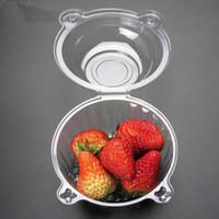 cajas de ensaladas al por mayor-Sombrero de plástico Plástico transparente Envase de pastel de plástico desechable Pastelitos Caja de embalaje Caja de pastel Ensalada Utensilios de cocina Utensilios de cocina