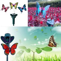 Wholesale Butterfly Dance - Wholesale- 2016 New Vibration Solar Power Dancing Flying Fluttering Butterflies Garden Dec (Hummingbird or Butterflies or Sun Flower