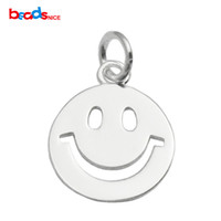 Wholesale Buy 925 Sterling Silver - Beadsnice 925 silver pendant smile pendant mini smile charm buy for friends as gifts DIY finding happy face charm ID 35629