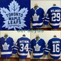 Wholesale Wholesale Polyester Spandex - #29 William Nylander Jersey, Men's 2016 New Toronto Maple Leafs 34 Auston Matthews 100% Stitched Embroidery Logos Hockey Jerseys Blue S-3XL