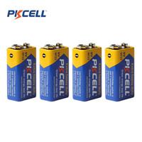Wholesale Super Heavy Duty Batteries - 4pcs Pkcell Super Heavy Duty 9V 6F22 Dry Zinc Carbon Battery for Remote control toys   Smoke alarm etc BLL_90T