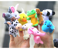Wholesale baby puppets for kids resale online - Velvet Plush Finger Puppets Animal puppets Toys finger puppet Kids Baby Cute Play Storytime Bed time for kids