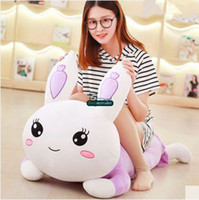 Dorimytrader 120cm Big Lovely Soft Cartoon Lying Bunny Peluche en peluche 47 '' Grand Peluches Rabbit Toy Pillow Girl Présent DY60151