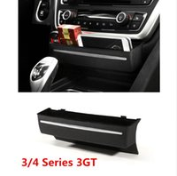 Wholesale Center Console Box - Black Replace type Center Console Storage box decoration ABS Car interior accessories for BMW 3 4 Series 3GT F30 F34