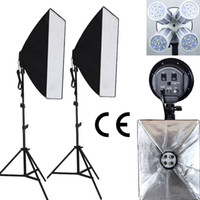 Freeshipping Professional 100-240V Photo studio photography luce Illuminazione continua Kit video luce softbox kit 4 lampade presa CE