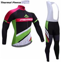 Wholesale Merida Cycling Jersey Winter Thermal - 2017 MERIDA winter thermal fleece cycling jerseys long sleeve bicycle mtb bike winter cycling clothes sport kits bicycle men wear AK-82