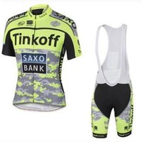 Wholesale Bank Suits - Tinkoff saxo france cycling jerseys Bike Suit pro cycling jersey bank 9 colors cycling jersey +short Bib Pants size XS-4XL