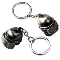 anunciadores para venda venda por atacado-Venda quente Jogo Jóias PUBG Capacete Chaveiro Liga Chave Do Carro Anéis chaveiro Titular Chaveiro Para O Presente
