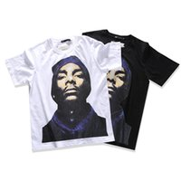 Wholesale Fitted T Shirt Pattern - Europe and the United States tide brand street hip-hop black pattern printing t-shirt men and women fitted summer short-sleeved loose round