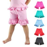 Wholesale Ruffled Boy Shorts - 2017 new girls stripe ruffle short pants Baby Shorts kids cotton Pants 25 styles C1776