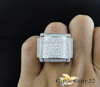 Wholesale Round White Diamond Band - Mens 14K White Gold Round Cut Diamond Pave Designer Pinky Band Ring 2.50 Ct