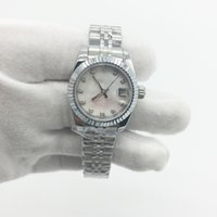 Wholesale Ladies Automatic Watch New - New Women Watch 26mm Lady Size Date Sapphire Glass Stainless Steel AAA Quality Original Clasp