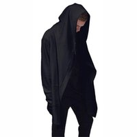 Wholesale New Fashion Spring Game Cosplay Men s Black Cloak Hooded Clothing Hip Hop Full Sleeves Windbreaker Men Unisex Outwear Cardigan