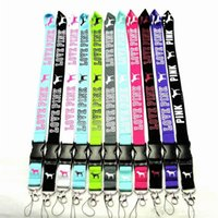 Wholesale Cell Phone Couples - LOVE PINK neck straps 10colors mixed cell phone straps love pink strap Branded for women men couples