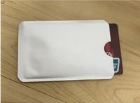 Wholesale card sleeves free shipping resale online - 2000pcs Aluminum Anti RFID Blocking Sleeve Credit Card Holder