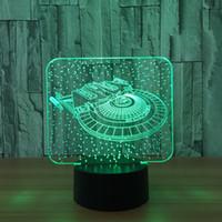 ingrosso stelle di lampada diy-USB 5 di notte della luce di illusione di Star Trek che accende la CC 5V che carica la quinta batteria all'ingrosso Dropshipping che spedice liberamente la scatola al minuto di trasporto