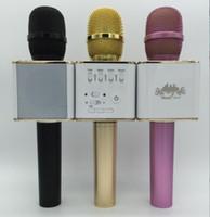 Hot selling Fashion S350 Q9 Karaoke Microphone Wireless Handheld Loudspeaker Portable Bluetooth KTV Karaoke Stereo Player with U