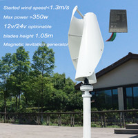 Wholesale speed controller 12v online - vertical maglev generator wind turbine watt v v wind generator white with charge controller for off grid system low start wind speed